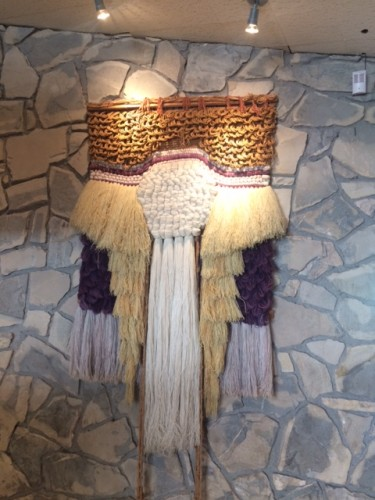 Which is not to say that there isn't some really regrettable macramé in the place. This is on one wall of the restaurant, and I'm just so grateful I didn't notice it until we were finished.