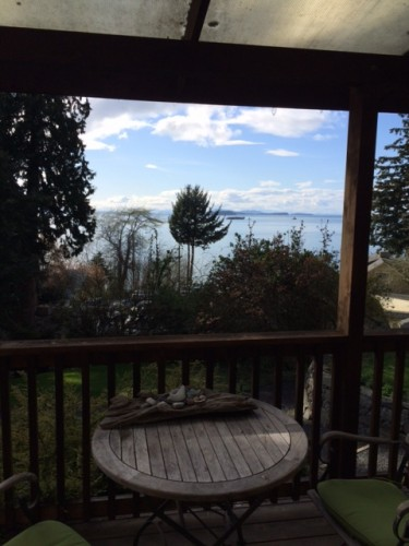 The pay-off for all that hauling, though, is a delightful sense of seclusion, and this great view from The Cottage's front porch.