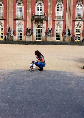 With Spock at the Neues Palais, in Potsdam's Sanssouci Park