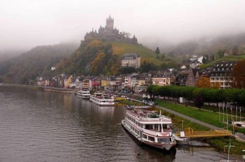 Cochem, one of the cruise's stops, from the river
